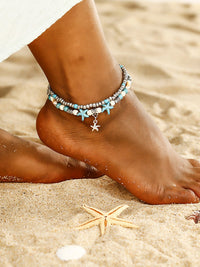 Silver Star Anklets