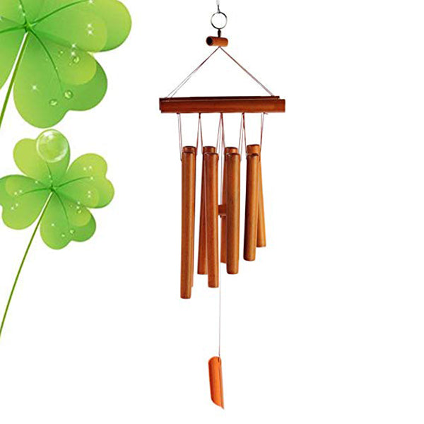 "26"" Bamboo 8 Tubes Wind Chimes for Garden, Yard,Patio and Home Decor"