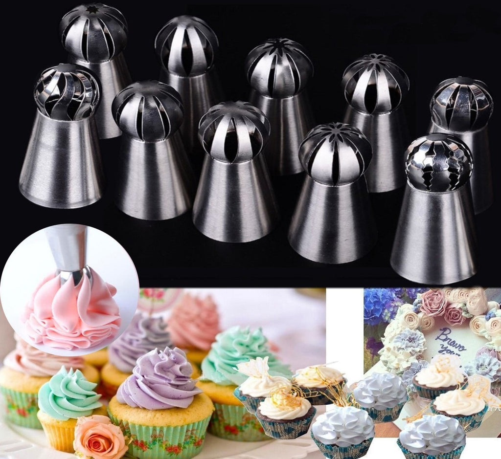 Pastry Tips Baking Cake Flower Decorating Nozzles Torch Pastry Tips