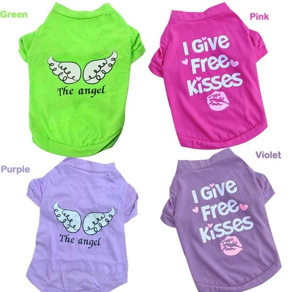New Fashion Dog Pet Summer The Angel Vest Sleeveless T-Shirts Clothes