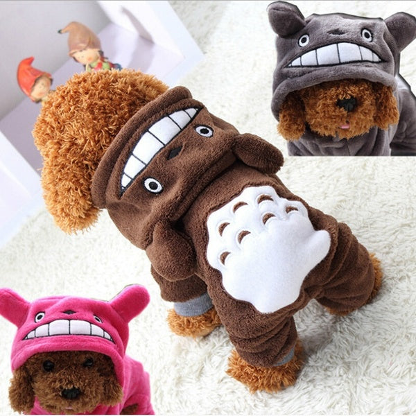 Pet Dog Puppy My Neighbor Totoro Coat Autumn and Winter Warm Cotton Costume Coat Clothes