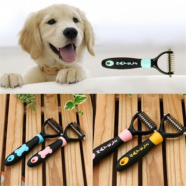 1Pc Pet Dog Cat Hair Fur Shedding Trimmer Grooming Rake Comb Brush Tools