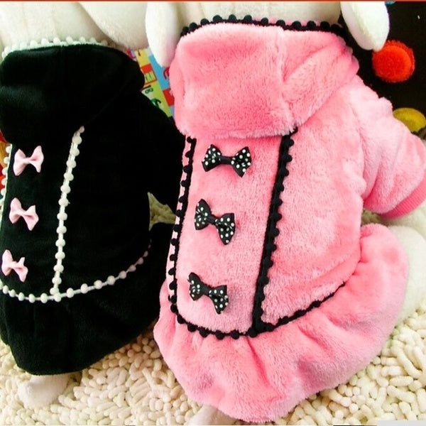 Pet Dog Clothes Cute Fashion Red Black Color Dog Dress Small Dog Clothes Puppy Dot Skirts Clothes