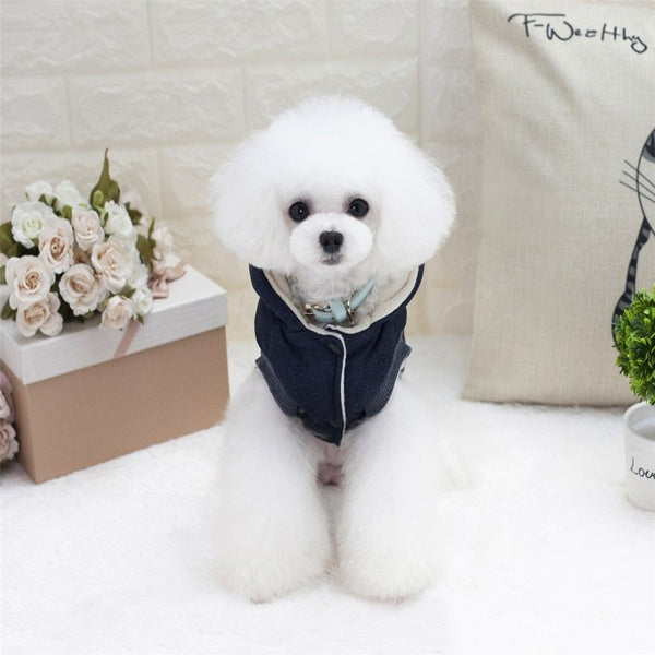 Fashion Dog Winter Jacket Cotton Coat Warm Hoodie Puppy Cat Dog Clothes