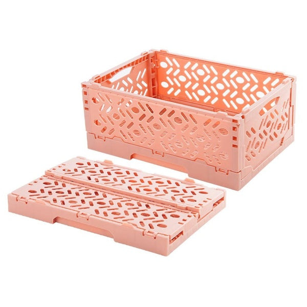 Multi-function Folding Desk Supplies Organizer Cosmetics Stationery Hollow Storage Box