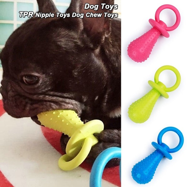 Funny Durable Pet Chew Toys Nipple Toys Soft Rubber Training Bite Interactive Toy