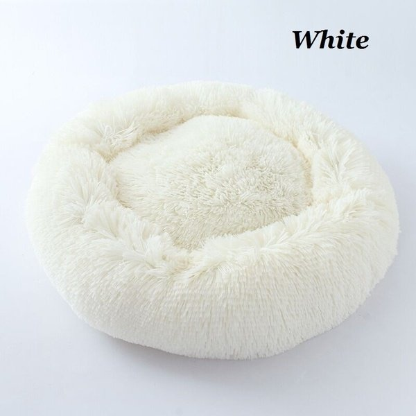 Dog Cat Bed Nest Winter Soft Round Shape Fleece Pet Bed Small Dog House Warm Mat Pad