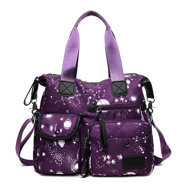 Large-capacity Starry Sky Pattern Shoulder Bag Handbag for Women