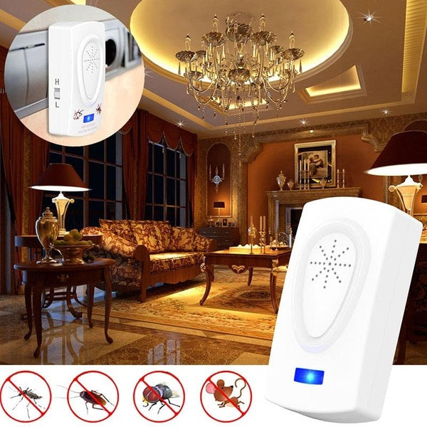 Ultrasonic Electronic Mouse Repeller Mosquito Fly Repellent Pest Control for Indoor Home