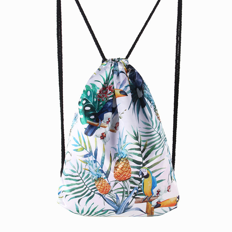 Drawstring Casual Printed Vintage Backpacks For Women Men Unisex