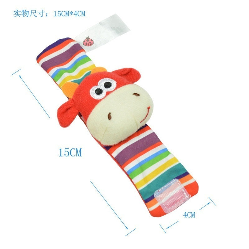 2pcs/Pair Fashion New Born Baby Infant Soft Toy Wrist Rattles/Sock Rattles