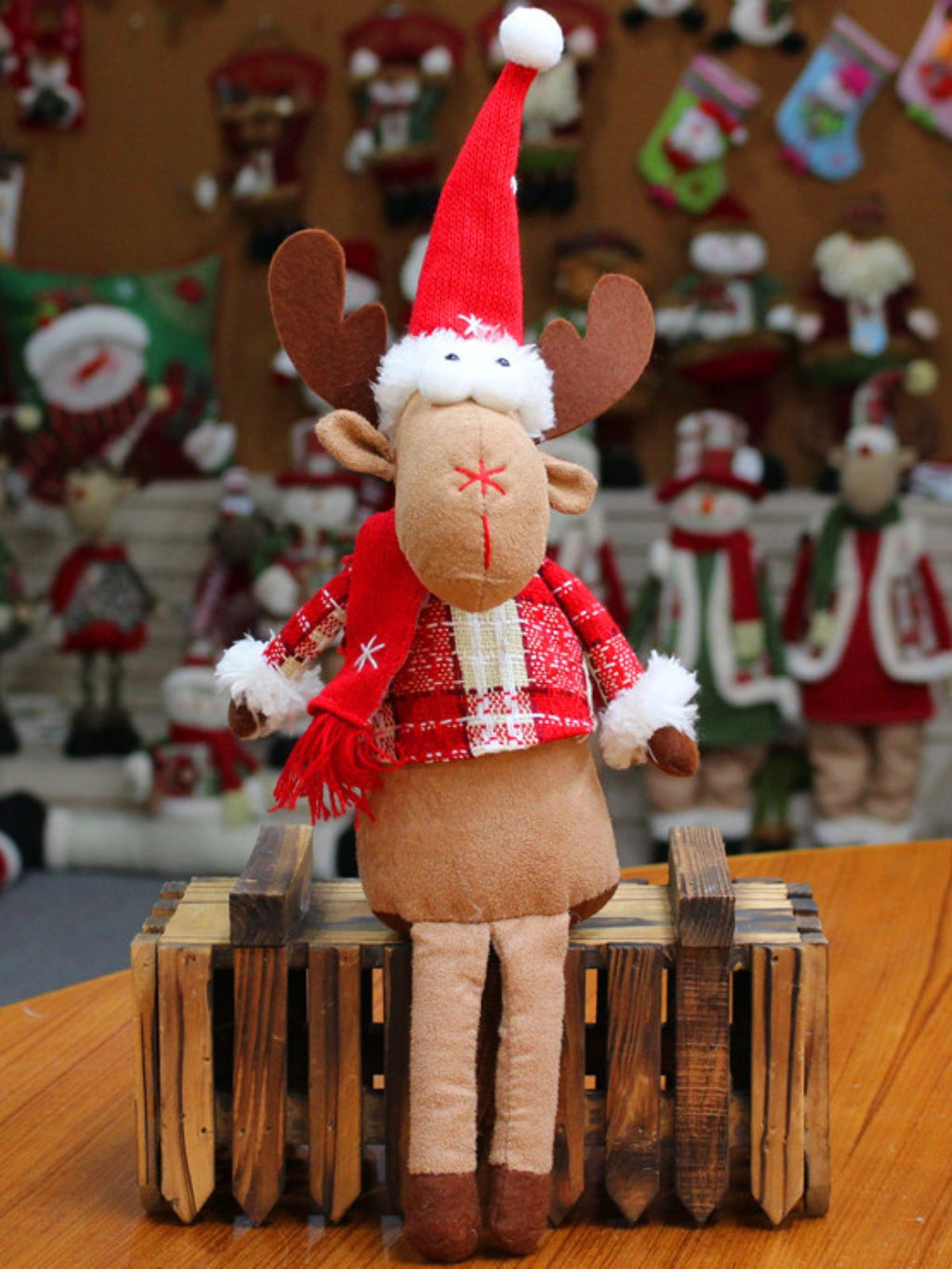 Xmas Deers Doll Christmas Decorations Gift Ornaments