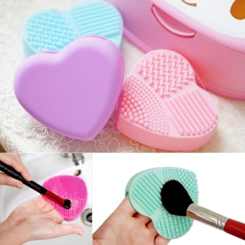 Professional Makeup Brush Foundation Eye Shadows Lipsticks Powder Make Up Brushes Cleaning Tools Bag Washing Pad