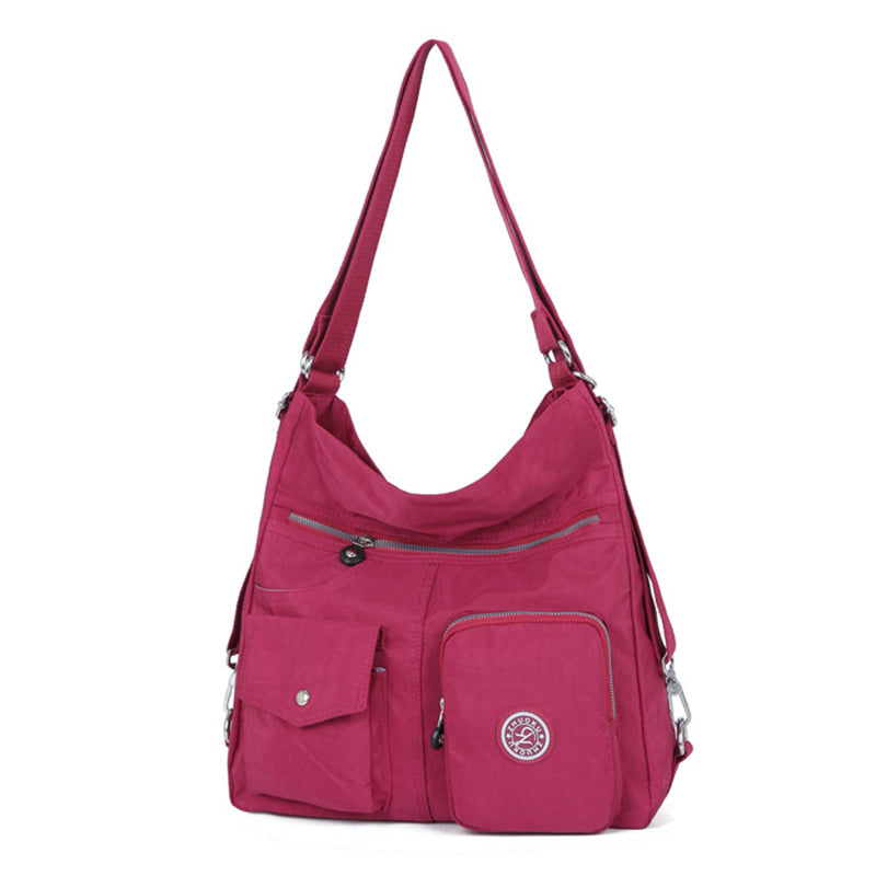 Outdoor Travel Multi-pockets Waterproof Polyester Women  Shoulder Bags