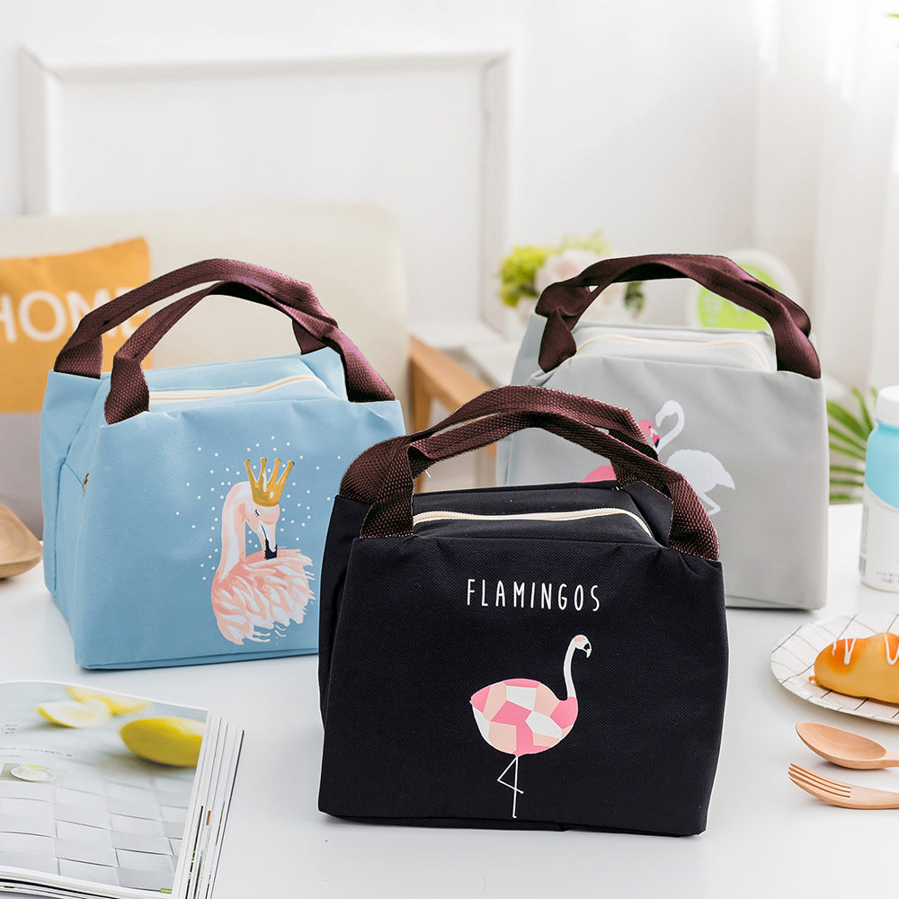 Cute Lunch Tote Lunch Bag with Printed Design and Aluminum Insulation with Handle Straps  Picnic Bag