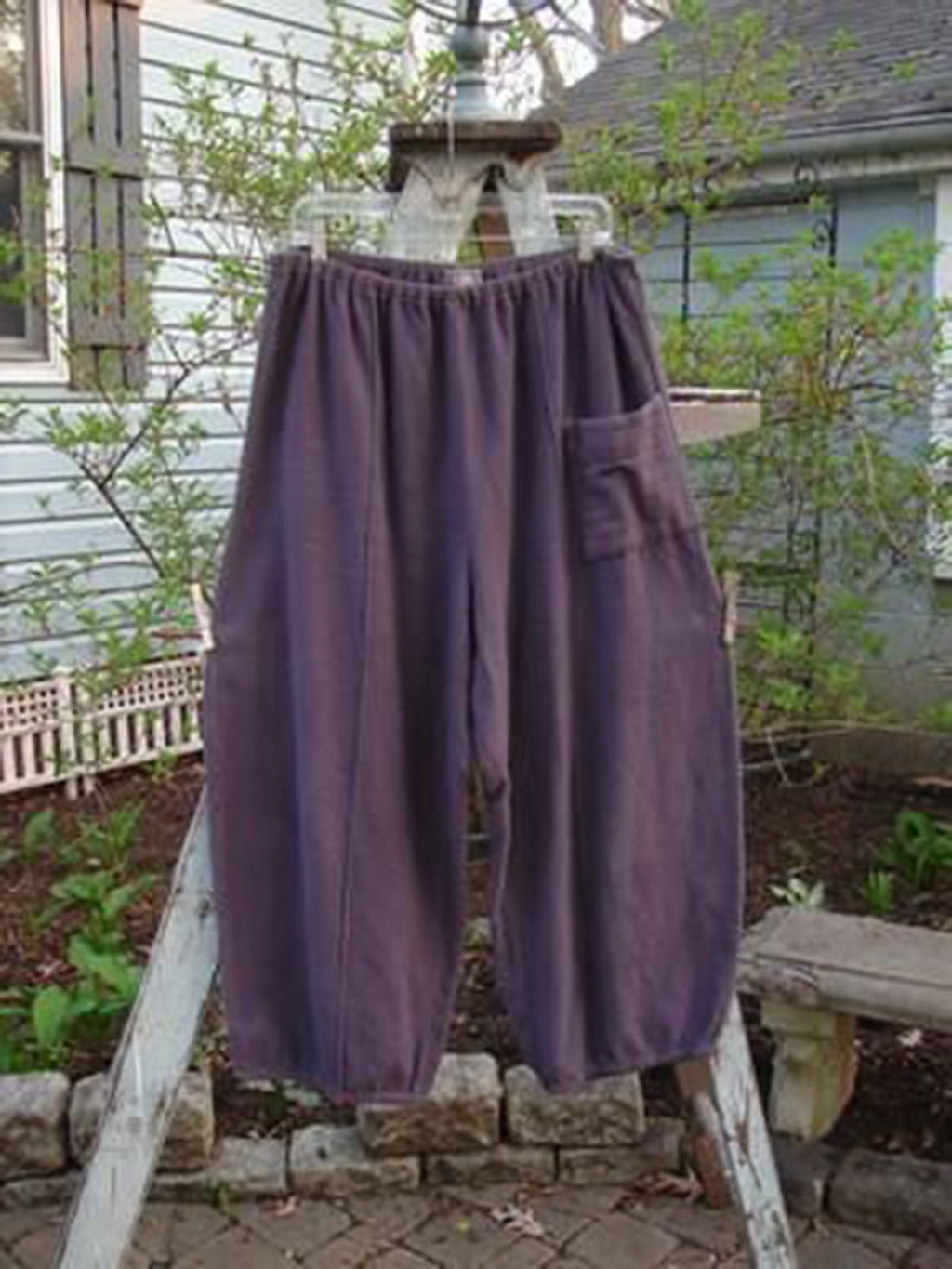 Women Purple Plain Casual Pants