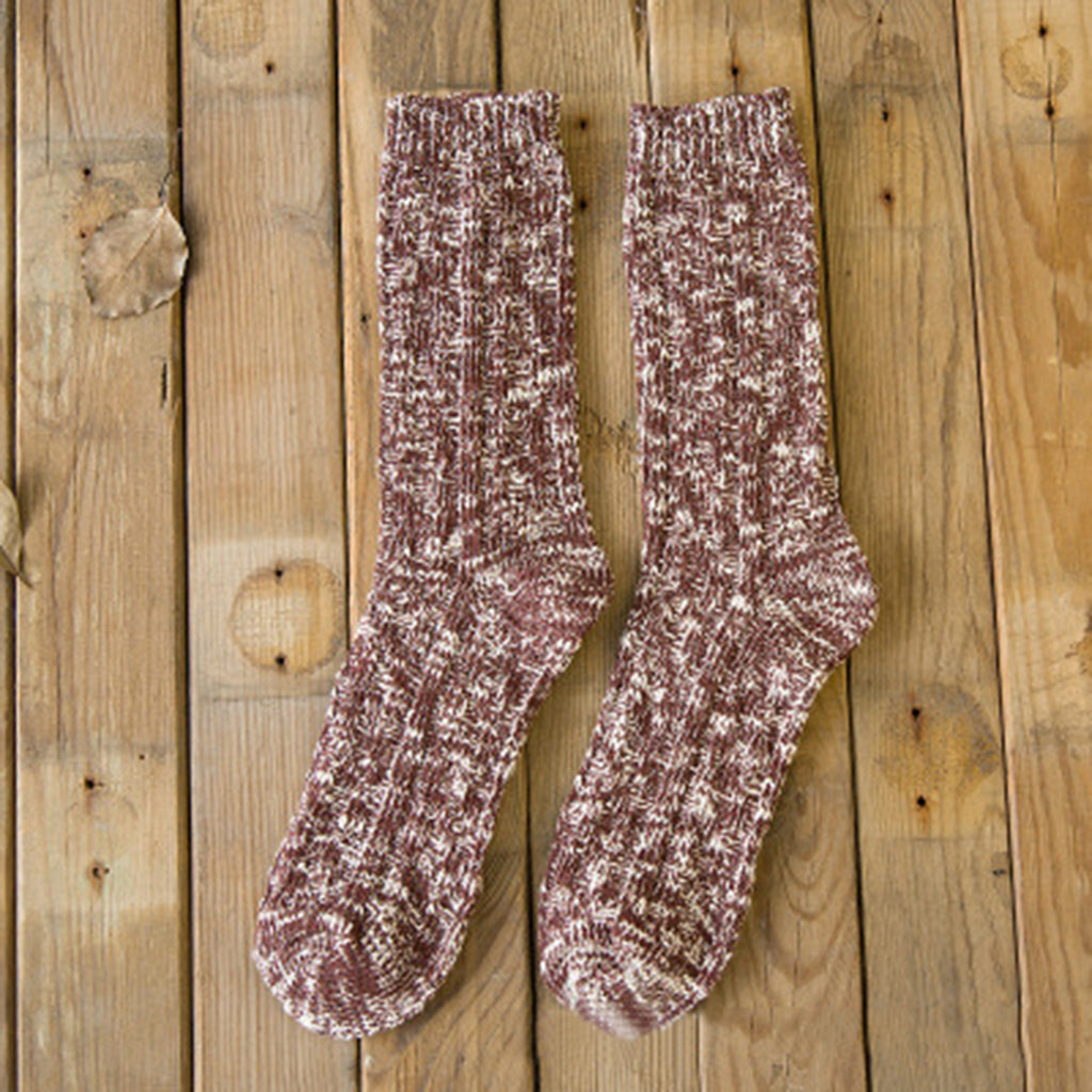 Mixed Color Cotton Winter Women's Socks 4 Packs
