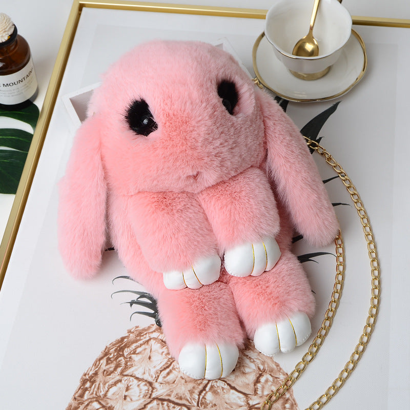 Cute Pluff Bunny Keychain For Women Bag Pendant