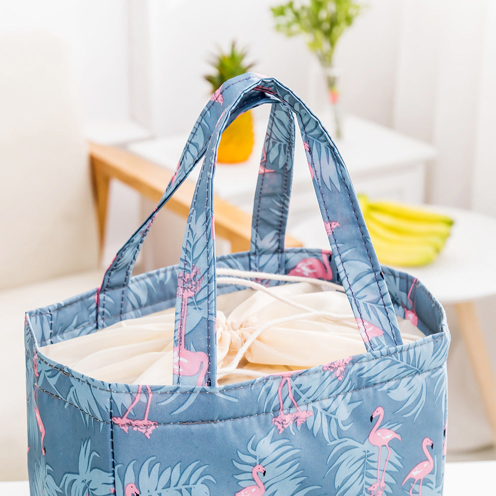 Portable Waterproof Oxford Lunch Tote Bag Picnic Bag Cooler Insulated Handbag Zipper Storage Containers