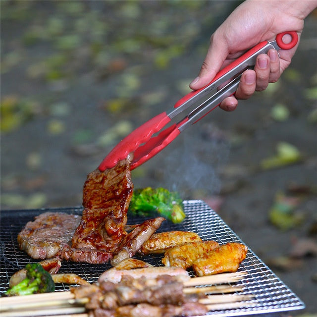 Stainless Steel Silicone Kitchen  Salad Bread  BBQ Clip