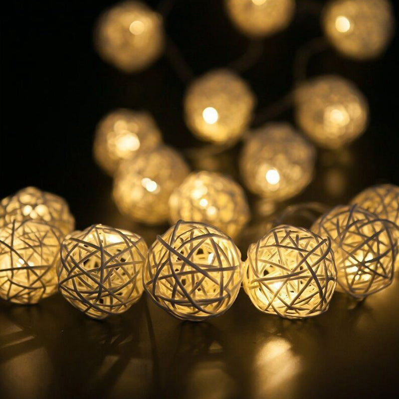 Holiday Lantern String Lights  Bedroom Living Room Christmas Home Decoration