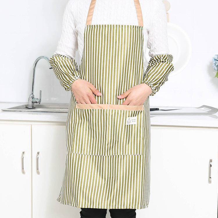 Apron + Oversleeves with Home Chores of Daily Necessities Home Furnishing Family Kitchen Utensils Commodity