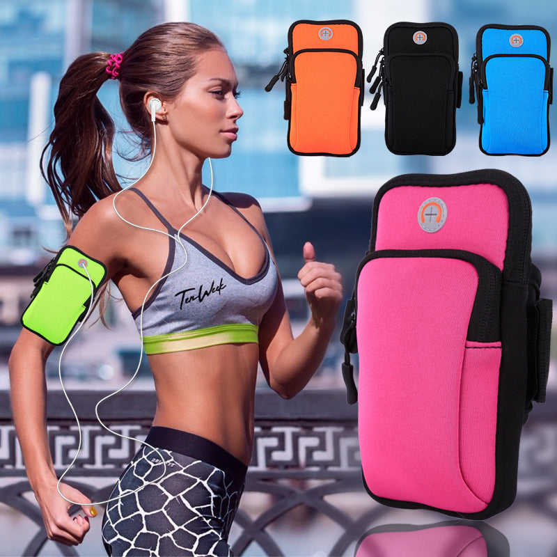 Outdoor Sport Running Arm Bag Wristband Bag Jogging Cycling Phone Pocket