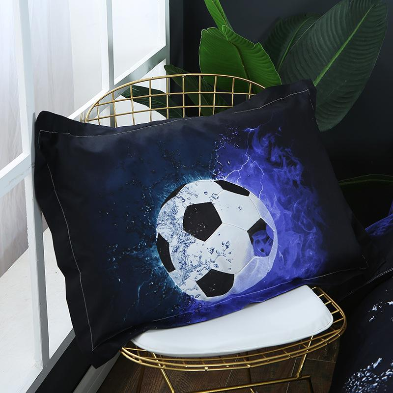 3Pcs 3D Bedding Sets Basketball Football Boys Kids Room Duvet Cover Fitted Bed Pillowcase