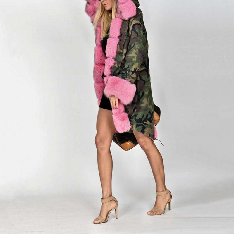 Winter Long Warm Thick Parka Faux Fur Hooded Coat