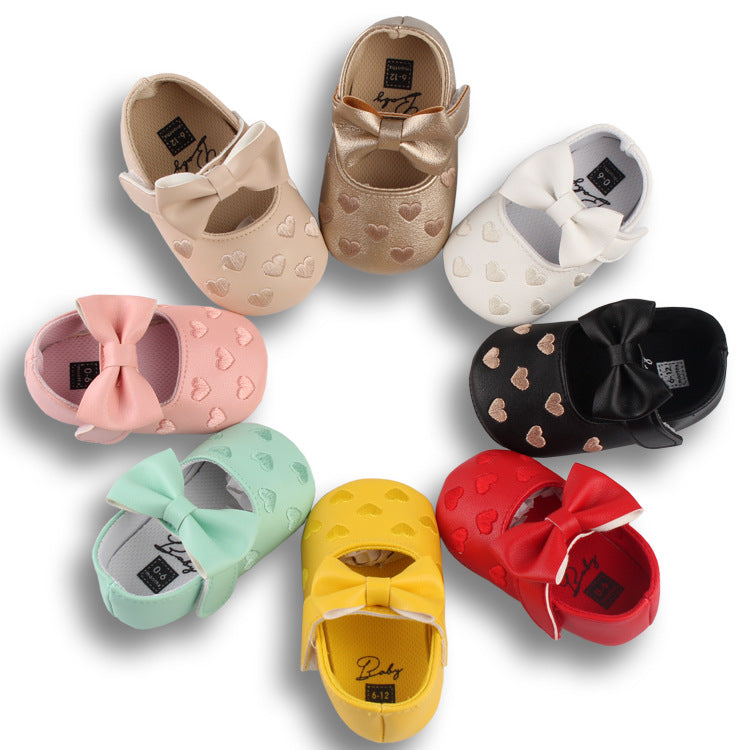0-18M Newborn Toddler Baby Girl Crib Shoes Soft Sole Sneakers Prewalker