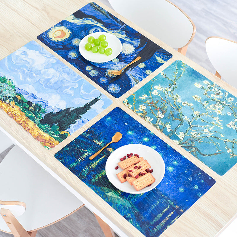 Creative PVC Household Table Mat Western Food Mat Antiskid Cup Bowl Mat Pad Printing