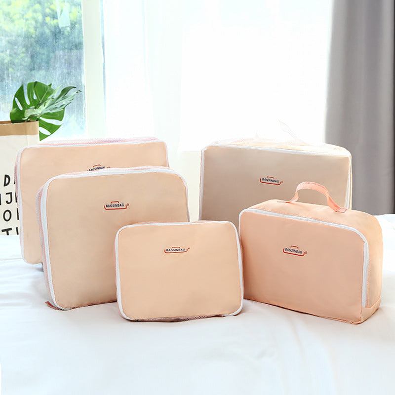 5Pcs/Set Waterproof Travel Multi-function Storage Bag Bra bag Underwear Bag Shoe Storage Bag