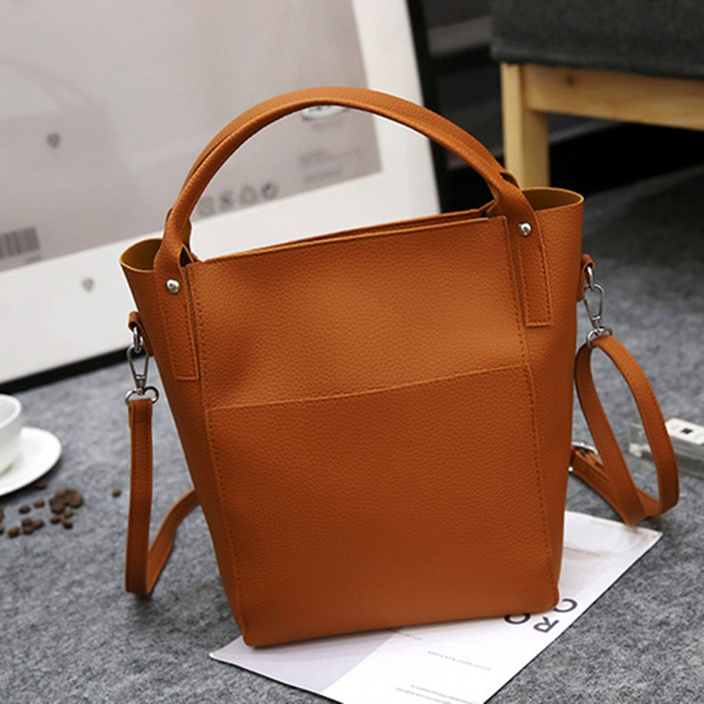 4PCS Women Versatile PU Leather Bucket Bag High-end Hobos Bag Handbag