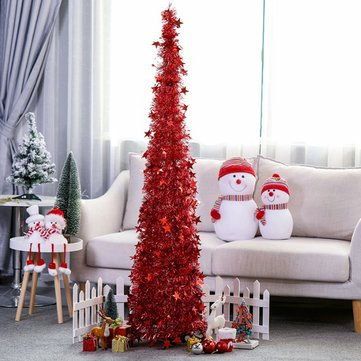 Retractable Folding Christmas Decoration Tree 1.2M High Colorful Tree