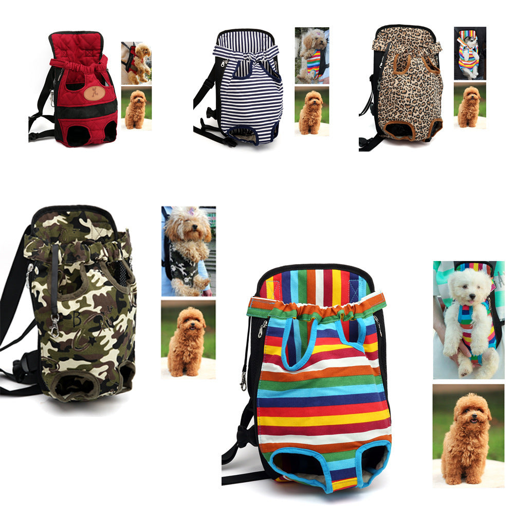 S,M,L,XL Pet Dogs Cats Carrier Backpack Canvas Front Bag Legs Out