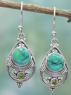 Green Drop Earrings