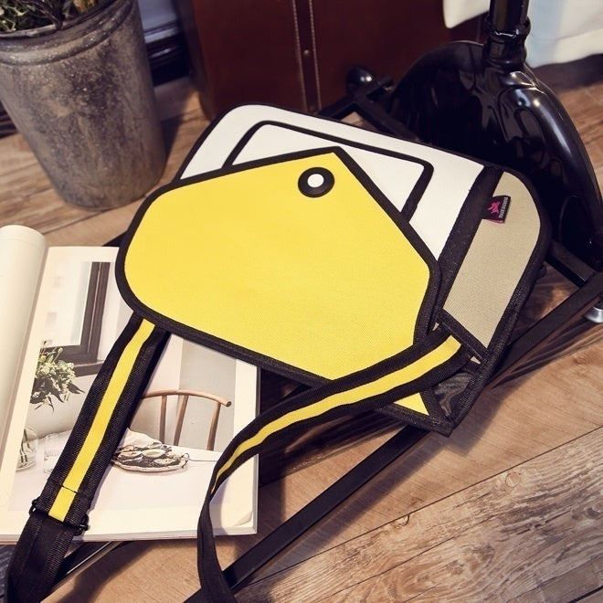 Novelty Messenger Bag Unique Cartoon 3D Comic Handbags Stereo Leisure Bags