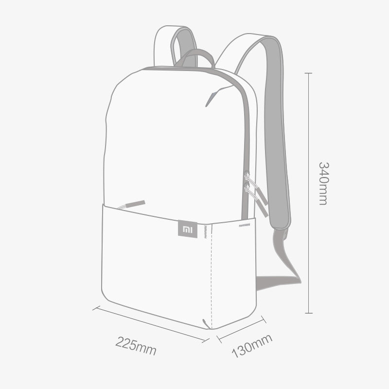 Original Xiaomi 10L Backpack Bag 8 Colors Level 4 Water Repellent Zip Outdoor Chest Pack For Mens Women Travel Camping