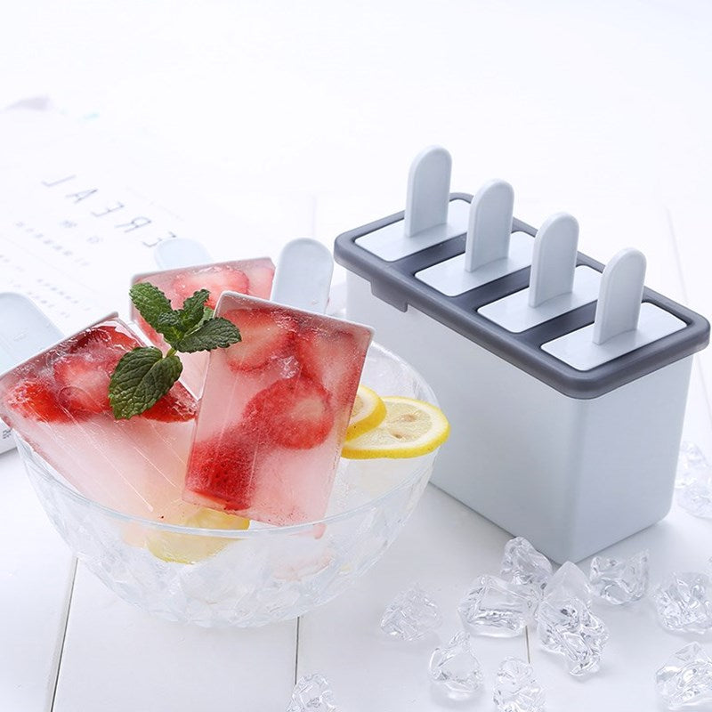 Home Ice Cream Mold Popsicle Suits Homemade Popsicles Made Model of Making Cold Sorbet Ice Cream Popsicles
