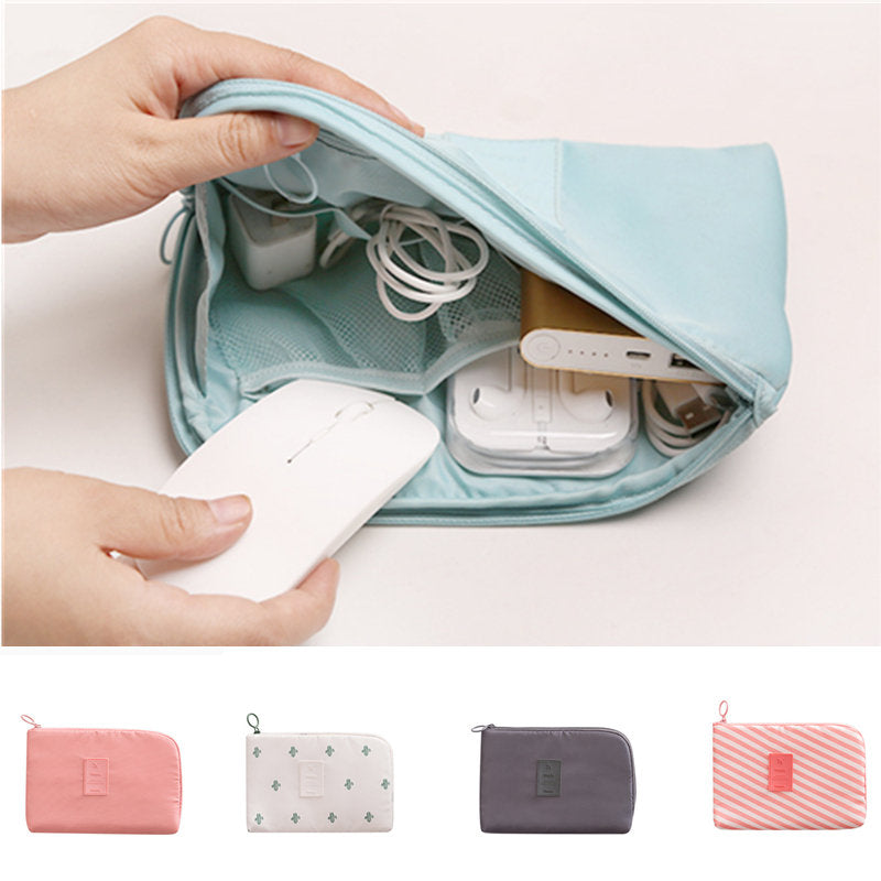 Digit Data Bag Headphone Protective Case Coin Money Storage Container