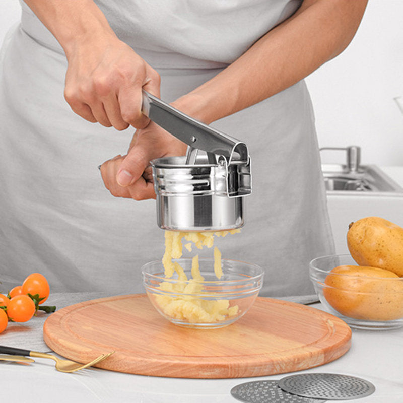 Three-in-one Stainless Steel Mashed Potatoes Maker Multifunctional Kitchen Gadgets