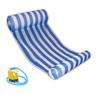 Colorful Striped Outdoor Floating Sleeping Bed Water Hammock Pool Accessories With Air Pump