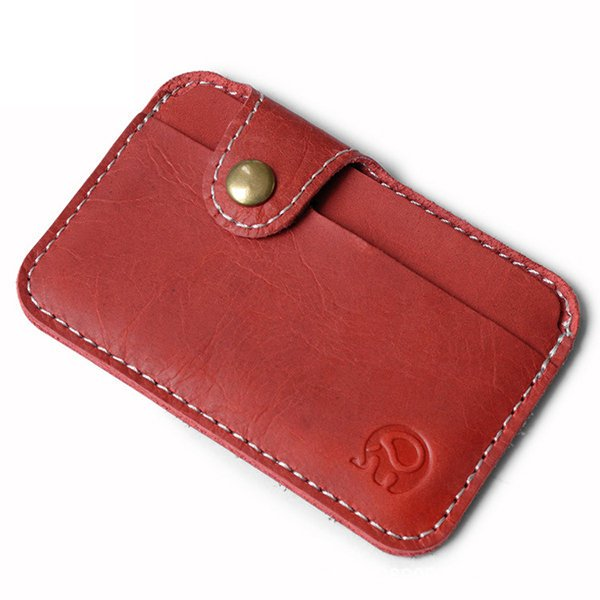 Simple Practical Genuine Leather Card Holder Wallet Purse