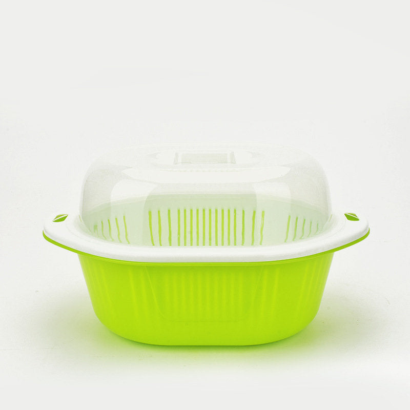 Kitchen Plastic Drain Basket Washing Basket Multi-function Storage Basket