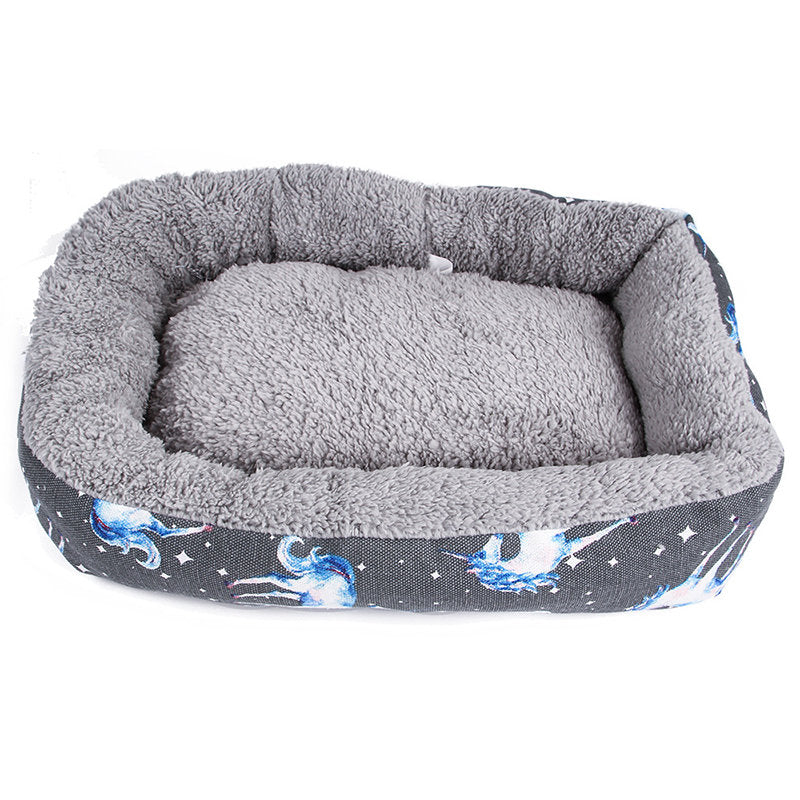 Dog Bed Mat Kennel Soft Pet Dog Puppy Warm Bed House Plush Cozy Nest Dog House Pad Warm Pet House