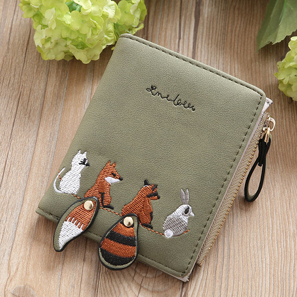 Cartoon Cute Lovely Bi-fold Short Wallet Coin Purse Card Holder For Girl Women