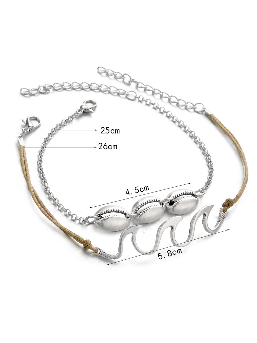 Women Fashion Conch Anklets Casual Footchain Accessories