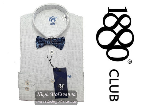 Boys 1880 Club Shirt & Bow Tie Set Call No: 25658CW - 2 Colour Options