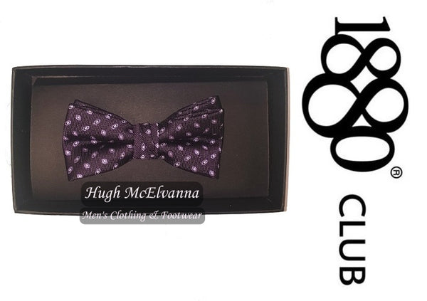 1880 Club Boys Purple Bow Tie