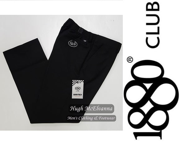 Black Sturdy Fit Trouser - Hugh McElvanna Menswear